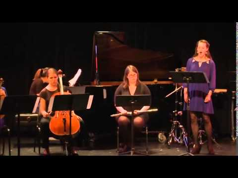 "Sarah Beaty and Blue Streak Ensemble perform the premiere of ""Clara"" by Victoria Bond at Symphony Space NYC"