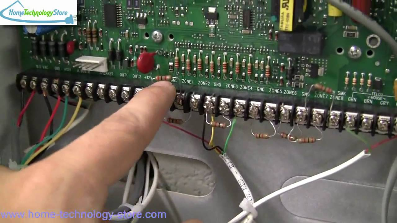 Ge concord4 installation wired connection overview youtube on wiring diagram for alarm keypad Controller Wiring Diagram Schematic Circuit Diagram