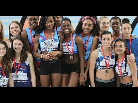 Relais 4 x 200m juniors Filles - Championnat de France Cadets/Juniors - Nantes - Fevrier 2016