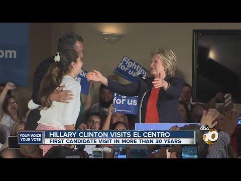 Hillary Clinton visits El Centro