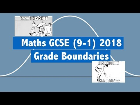 Maths GCSE (9-1) 2018 Grade Boundaries & Exam Dates