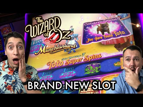 BRAND NEW The Wizard of Oz Munchkinland Slot Machine We Found Toto for Super Spins at San Manuel