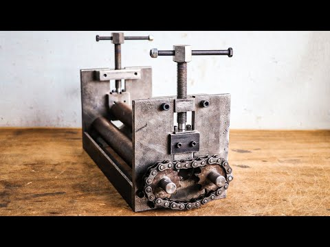 Make A Sheet Metal Rolling Machine || DIY Sheet Metal Bender Machine