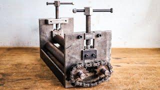 Make A Sheet Metal Rolling Machine    DIY Sheet Metal Bender Machine