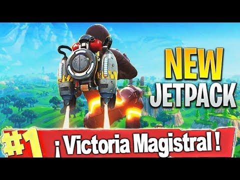 SUPER JUGADA con *NUEVO JETPACK* VICTORIA *ORO MACIZO V2* - FORTNITE Battle Royale