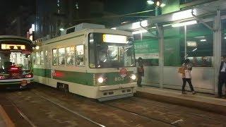 広島電鉄800形803号 紙屋町東到着