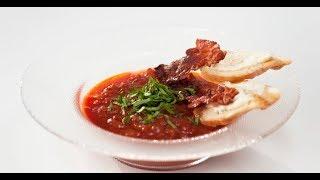 Томатный суп с беконом | Первое, второе, третье