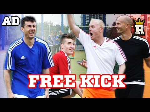 The EURO'S Free-Kick Challenge W/ Theo Baker, Daniel Cutting, FootballSkills98 & Global Freestyle AD