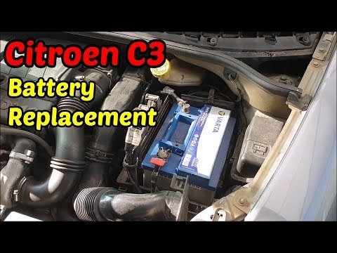 How To Replace The Battery At The Citroen C3   Citroen C3 DIY