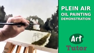 Plein Air Oil Painting Demonstration