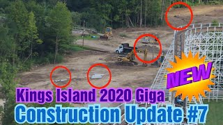 Kings Island Giga Construction Update #7