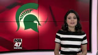 Fans flock to campus to celebrate MSU's win over Duke