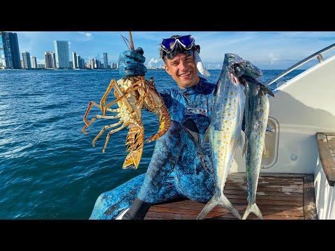 Ура! Вырвался! Подводная Охота на Лобстеров в Майами. 4К