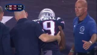 Rookie Malcolm Mitchell Injures Arm | Saints vs. Patriots (Preseason) | NFL
