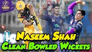 Naseem Shah Clean Bowled Wickets | Best Bowling Spell In PSL 5 | HBL PSL 2020