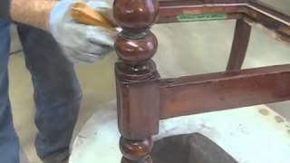 Sprucing Up A Scraped And Scratched Arm Chair - Thomas Johnson Antique Furniture Restoration