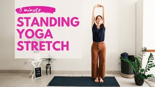 5 MIN STANDING YOGA STRETCH | Yoga Without Mat | Office Yoga Break |
