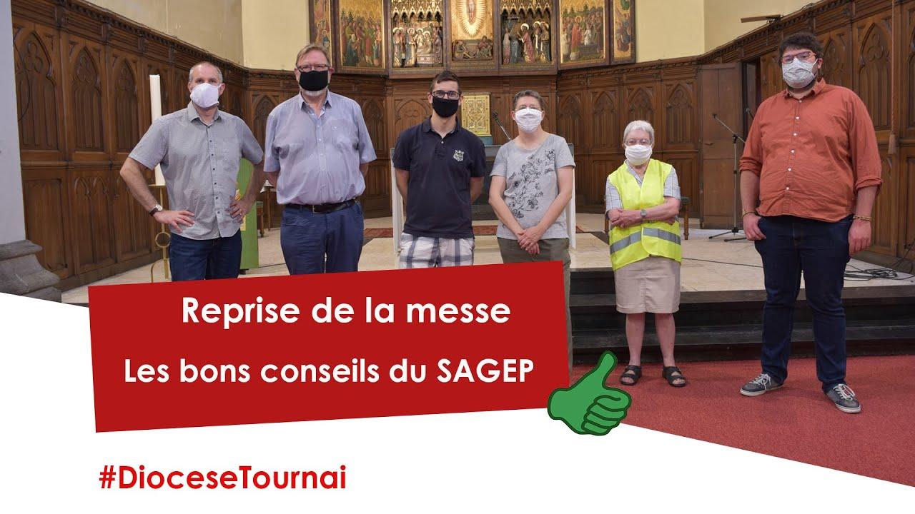 Reprise de la messe : les bons conseils du Sagep