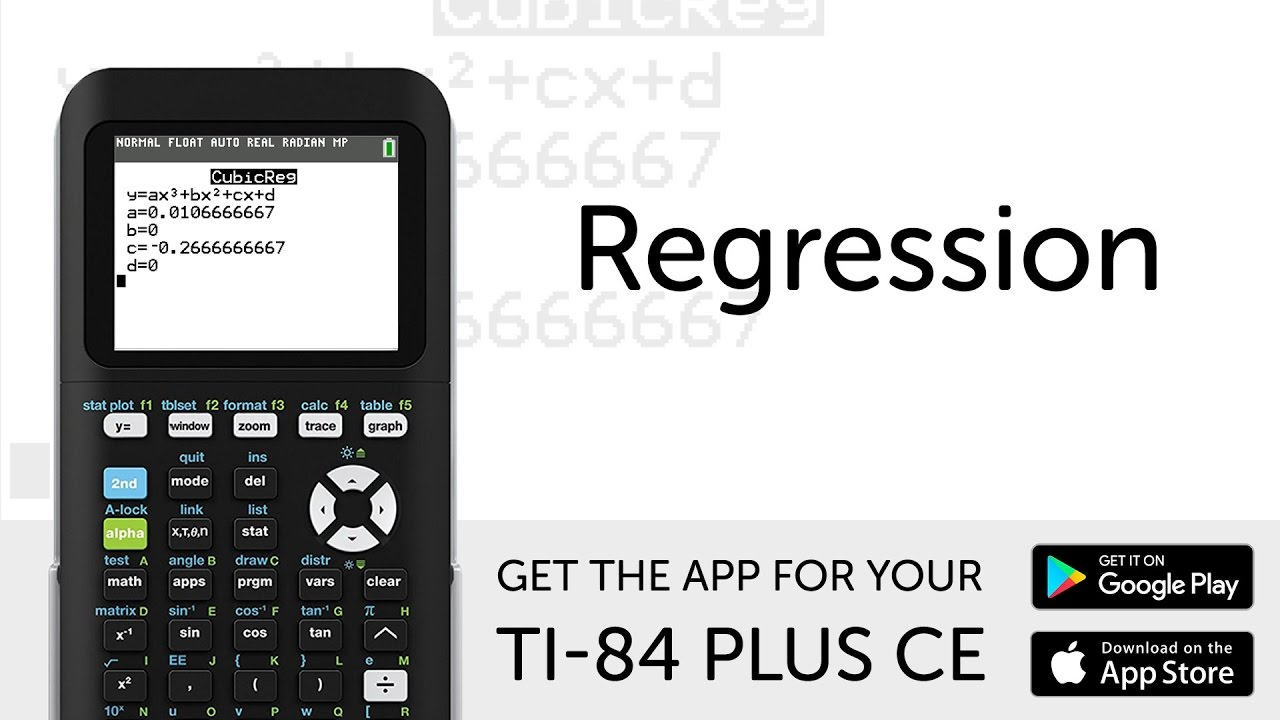 regression manual for ti 84 plus ce graphing calculator youtube rh youtube com TI-84 Plus Ce TI- 89