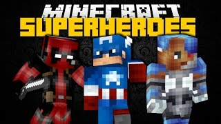 Minecraft: SUPERHERO MOD (Spider-Man, Batman, Deadpool Outfits) Mod Showcase
