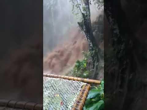 Creciente del río en Minca