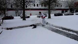 Finnish hand-held snow plough demonstration Thumbnail