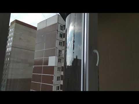 Бронза монолитный поликарбонат на лоджии 90-й серии.