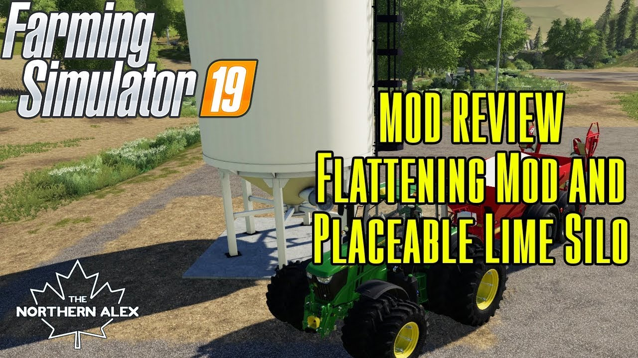 Farming Simulator 19 | Mod Reviews | Flattening Mod and Placable Silo