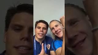Хорватские футболисты после победы над Россией: «Слава Украине!»
