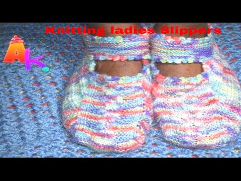 How to Knit Ladies Sandals/Slippers. [HINDI]