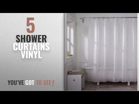 Top 10 Shower Curtains Vinyl [2018]: Eforgift Vinyl Shower Curtain Liner Long Size Non-Toxic 100%