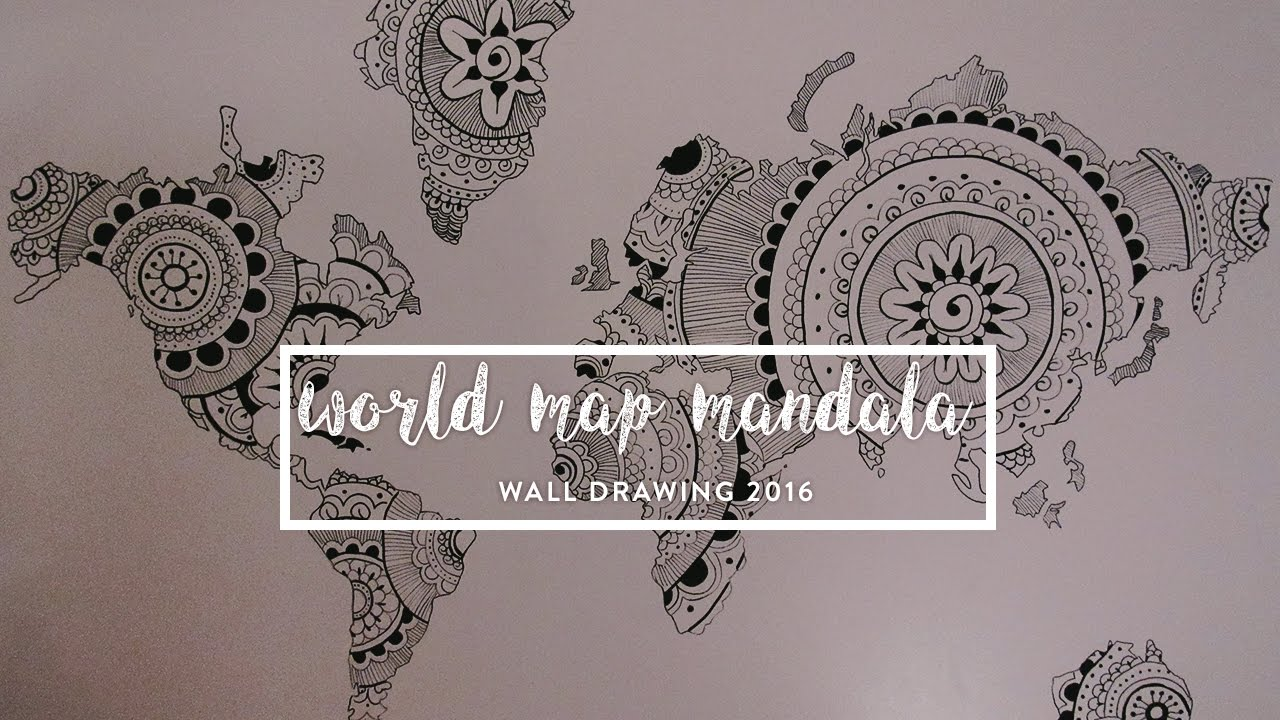 WORLD MAP MANDALA DRAW YouTube - Mandala map of the world
