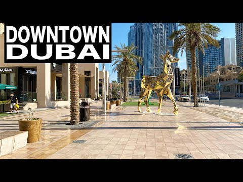 Downtown Dubai Complete Walk | 4K | Dubai Tourist Attraction