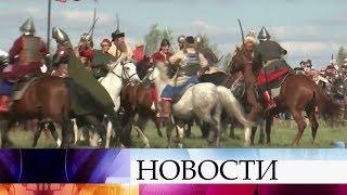 Русская рать против Золотой орды  наКуликовом поле реконструировали легендарное сражение