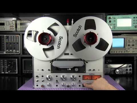 Revox PR99 MKI reel to reel recorder demo