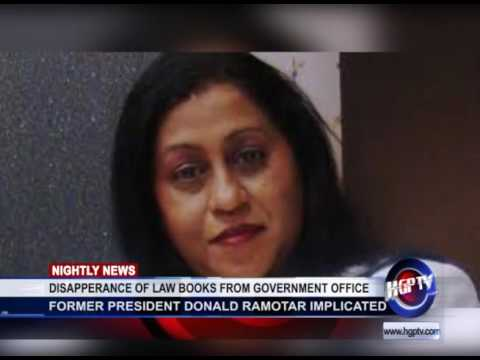 DISAPPERANCE OF LAW BOOKS FROM GOVERNMENT OFFICE