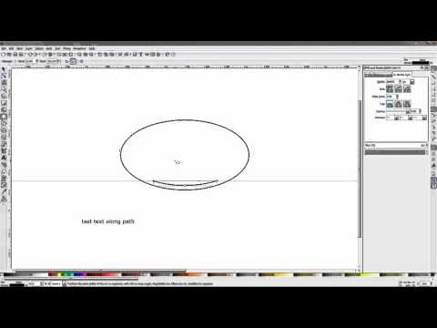 How to Put Text on Path (Elliptical) - Inkscape Tutorial