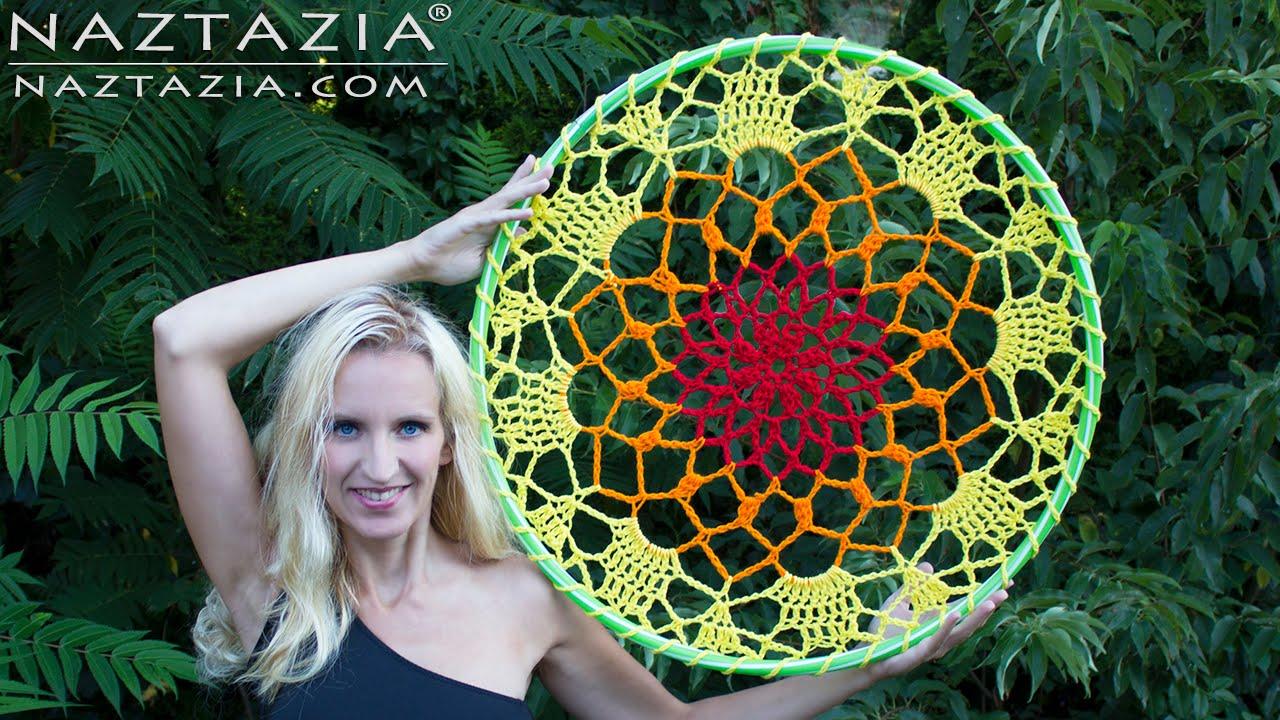DIY Tutorial - How to Crochet Mandala Dreamcatcher - Sun Dream ...