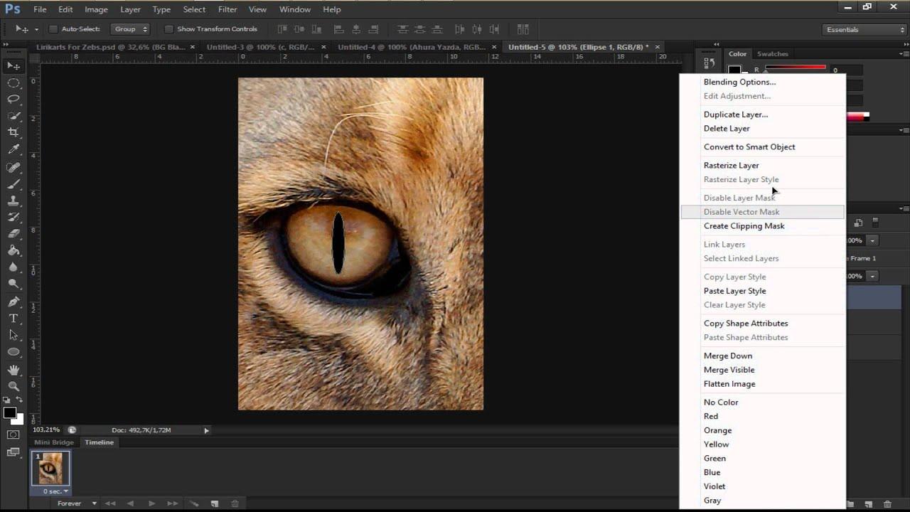 How To Make Dragon Eye #photoshop Tutorial
