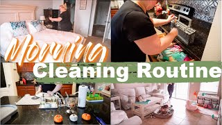 REALISTIC MORNING CLEANING ROUTINE┇FALL MORNING ROUTINE┇Heather McCarthy