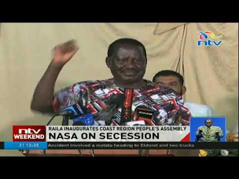 Nasa Leader Raila Odinga inaugurates Coast region People's Assembly