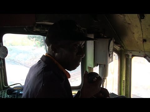 Zimbabwe - Cab Ride in a 1966 Built GE Diesel, July 2017