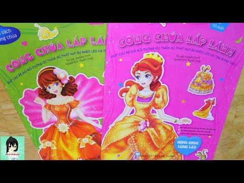 Đồ chơi dán hình trang phục CÔNG CHÚA LẤP LÁNH / Toys for kids  Ami Channel