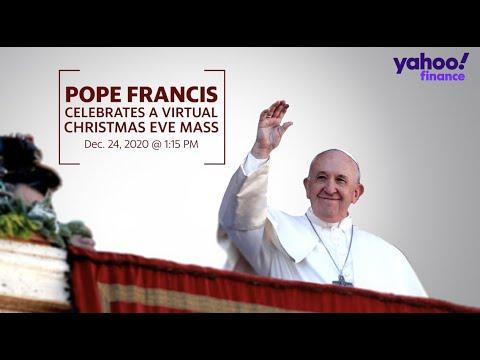 Pope Vatican Midnight Mass Christmas 2021 Streaming Pope Francis Celebrates Christmas Eve Virtual Mass Youtube