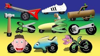 Strange Vehicles 2 - Funny Cycles Cars Trucks Vehicles Video For Kids