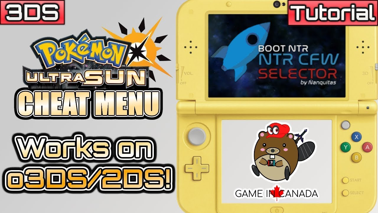 USUMCheatMenu - Pokemon Ultra Sun/Ultra Moon - NTR Cheat Plugin for  n3DS/o3DS/2DS - CFW ONLY by GameInCanada