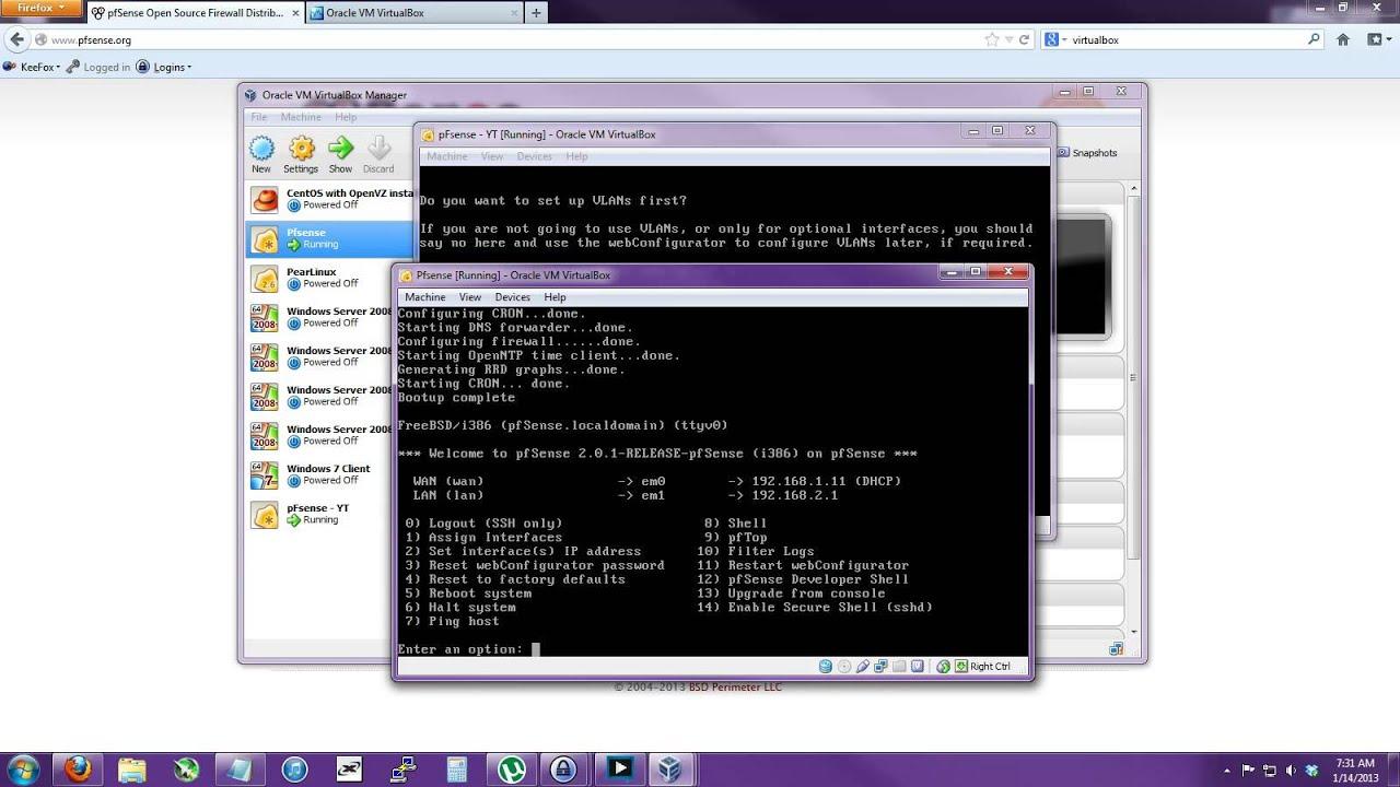 [Tutorial] How to setup pFsense in Virtualbox