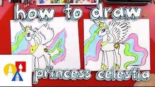 How To Draw Princess Celestia(Follow along with us and learn how to draw Princess Celestia! EMAIL A PHOTO OF YOUR ART: myart@artforkidshub.com MAIL US YOUR ART: Art for Kids Hub ..., 2015-02-19T18:14:47.000Z)