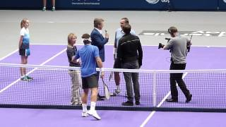 World Tennis Showdown - Lendl, Cash and Jonathan Ross tossing for serve