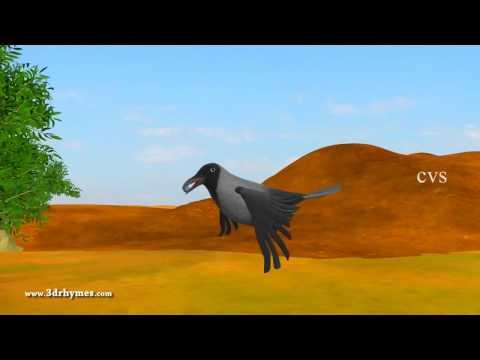 Ek Kauwa Pyaasa tha Poem   3D Animation Hindi Nursery Rhymes for Children with Lyrics BestAvailable